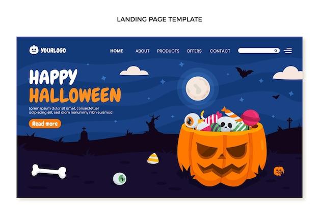 Плоский шаблон целевой страницы хэллоуина