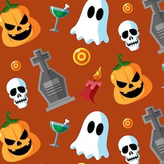 Design piatto modello di halloween