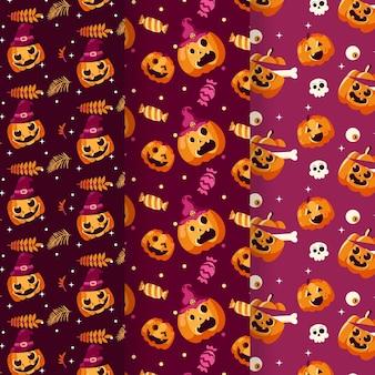 Flat halloween pattern design