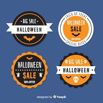 Flat halloween sale bagde collection