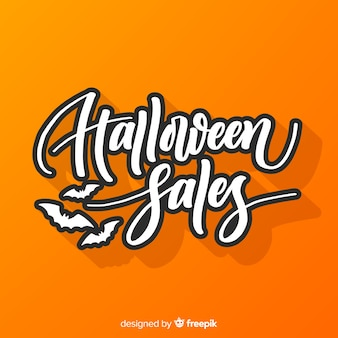 Flat halloween sales background