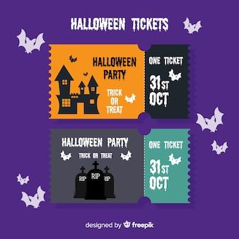 Flat halloween tickets