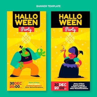 Набор плоских вертикальных баннеров хэллоуина