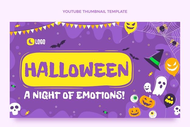 Миниатюра плоского хэллоуина на youtube