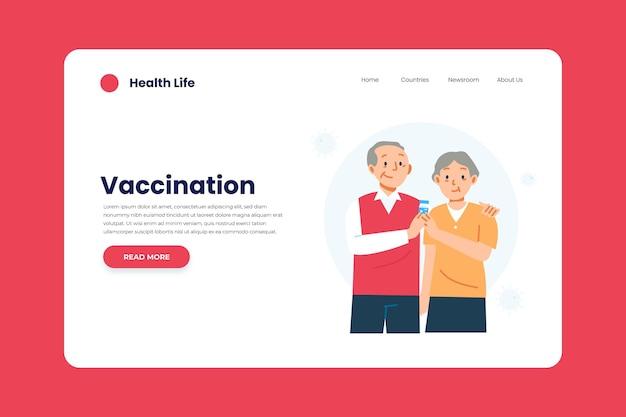Шаблон целевой страницы вакцины против коронавируса