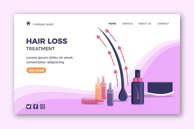 Шаблон целевой страницы для лечения выпадения волос