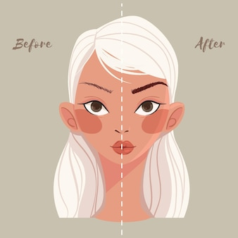 Flat-hand drawn microblading concept
