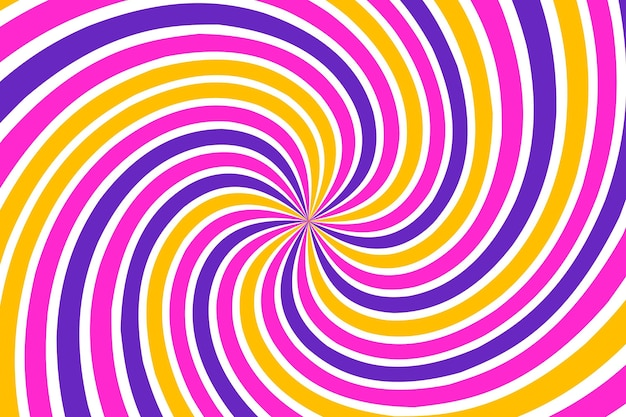 Flat-hand drawn psychedelic groovy background