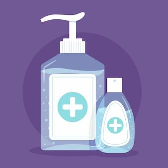 Flat hand sanitizer concept