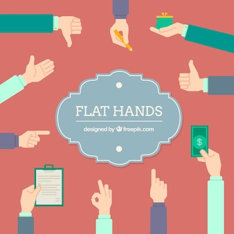 Flat hands collection