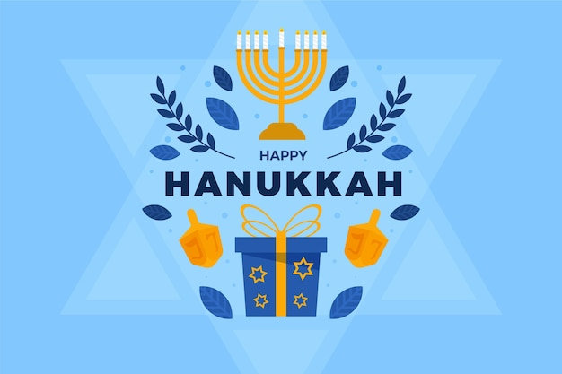 Sfondo piatto hanukkah