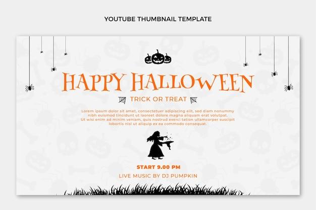 Flat happy halloween youtube thumbnail
