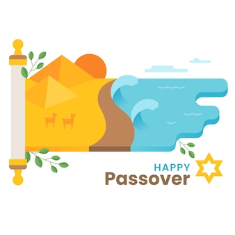Flat happy passover