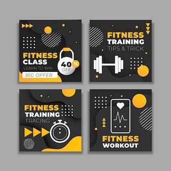 フラット健康とフィットネスのinstagramのポストパック