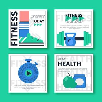 フラットな健康とフィットネスのinstagramの投稿コレクション