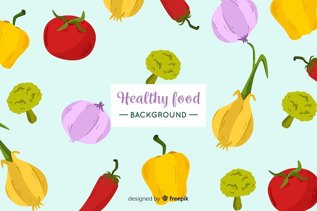 平的健康食物背景