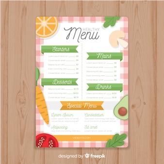 Flat healthy food menu