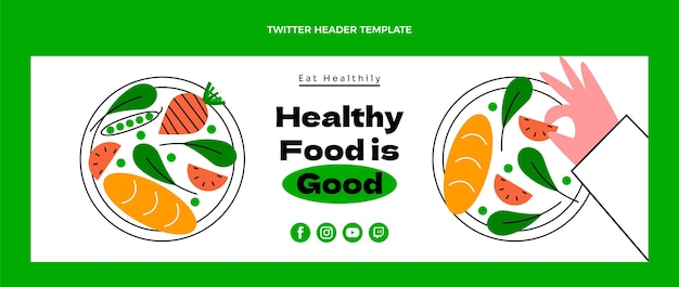 フラット健康食品ツイッターヘッダー