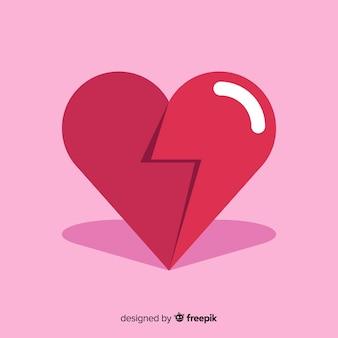 Flat heart background