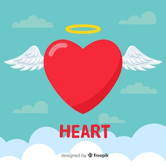Flat heart background