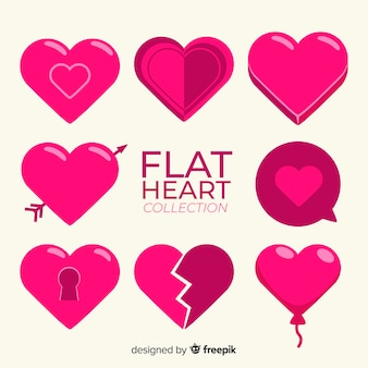 Flat heart collection