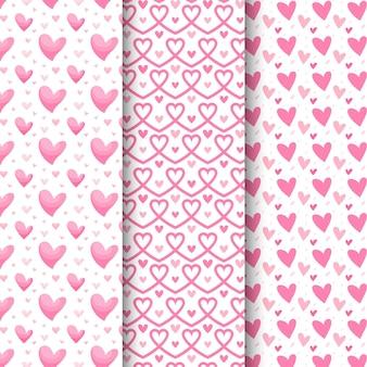 플랫 하트 패턴 컬렉션