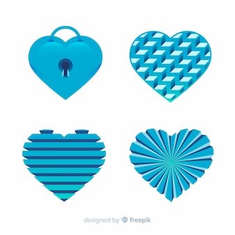Плоский набор сердца
