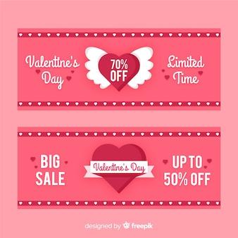 Плоское сердце валентина продажа баннер