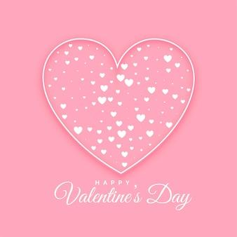 フラットハート装飾的なバレンタインデーの背景 無料ベクター