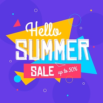 Flat hello summer sale