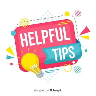 Flat helpful tip colorful background