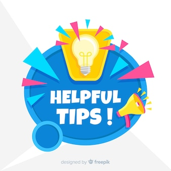 Flat helpful tips background