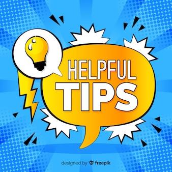 Flat helpful tips concept
