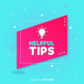 Flat helpful tips
