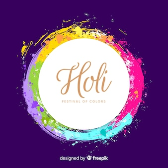 Flat holi festival background