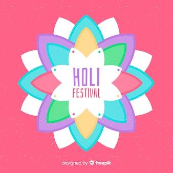 Fondo piatto festival di holi
