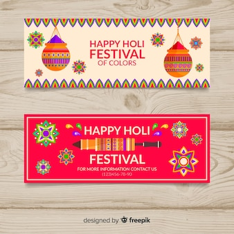 Banner holi festival piatto