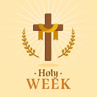 Flat holy week concept