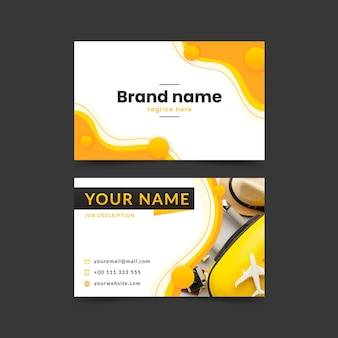 Flat horizontal business card template