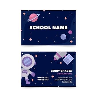 Flat horizontal business card template