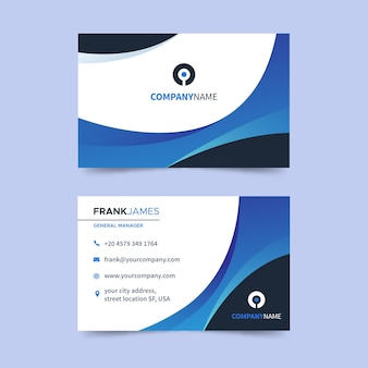 Flat horizontal business card