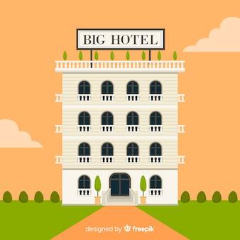 Flat hotel building