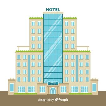 Flat hotel building