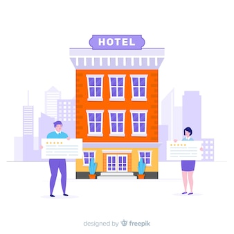 Flat hotel review background