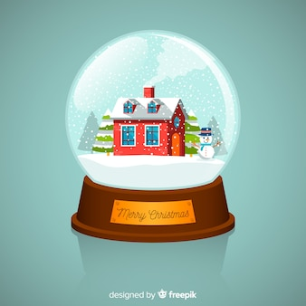 Flat house christmas snowball