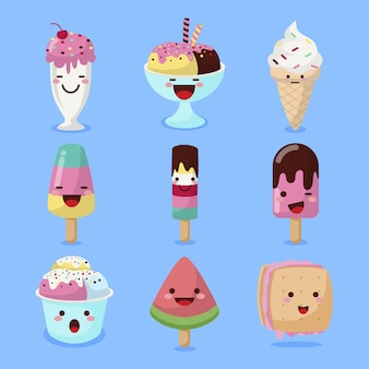 Flat ice cream collection