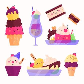 Collezione gelato piatto