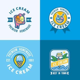 フラットアイスクリームラベルコレクション