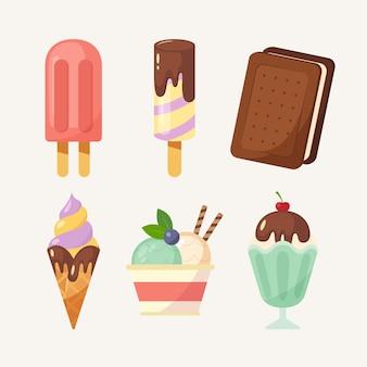Confezione di gelato piatto