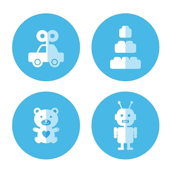 Flat icon of baby toy